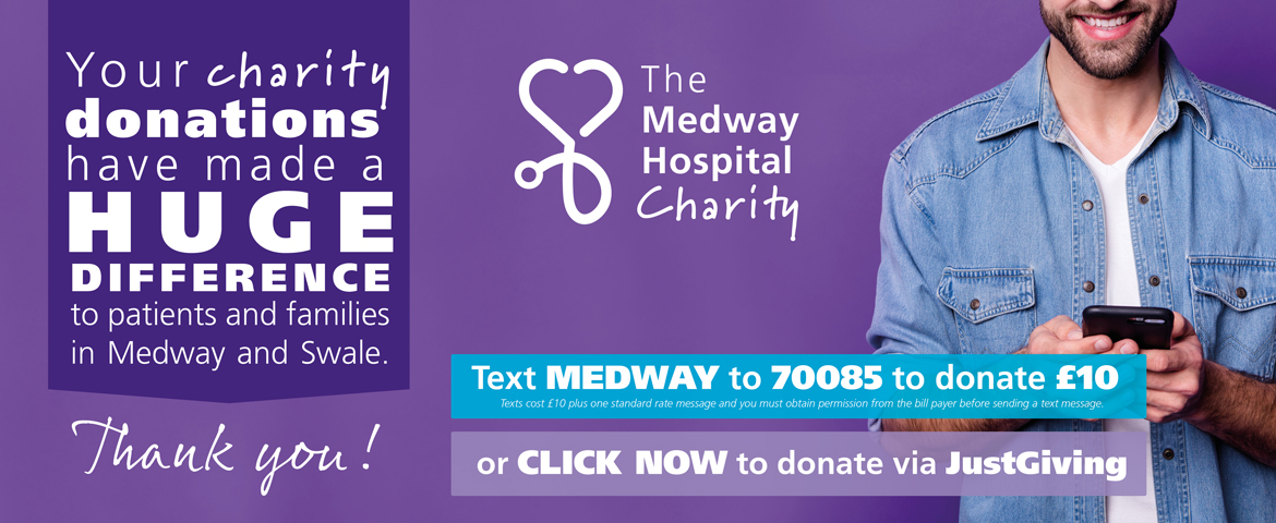 Medway Hospital Charity   donate banner